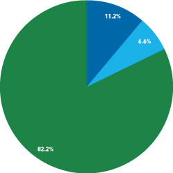Expenditure Piechart for fiscal year 2010 through June 30;