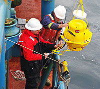 Launching acoustic buoy
